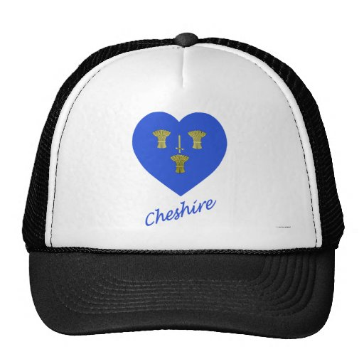 Cheshire Flag Heart with Name Mesh Hat