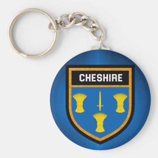 Cheshire Flag Key Ring