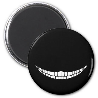 Cheshire Grin 6 Cm Round Magnet