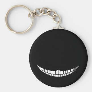 Cheshire Grin Basic Round Button Key Ring