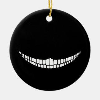 Cheshire Grin Ceramic Ornament
