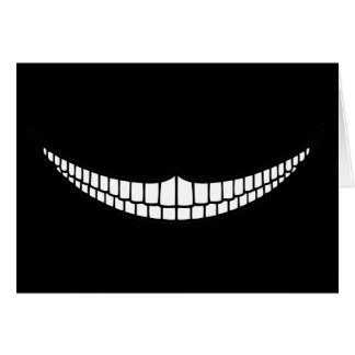 Cheshire Grin Greeting Card