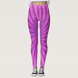 Cheshire Pink Purple Fun Stripes Leggings