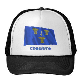 Cheshire Waving Flag with Name Cap