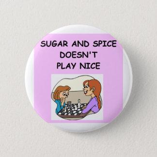 chess 6 cm round badge