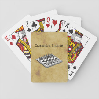 Chess and Chess Board Vintage WBG Distressed Playing Cards