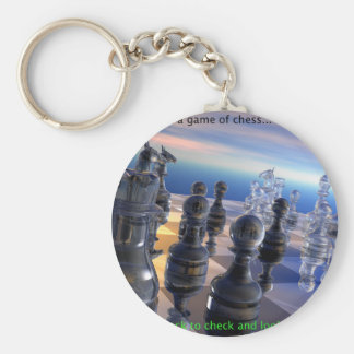 Chess and Life Key Ring