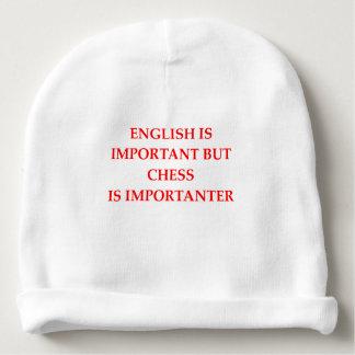 chess baby beanie