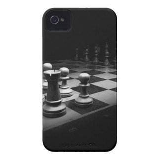 Chess Black White Chess Pieces King Chess Board iPhone 4 Cover