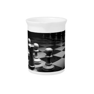 Chess Black White Chess Pieces King Chess Board Pitcher