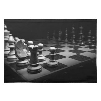 Chess Black White Chess Pieces King Chess Board Placemat