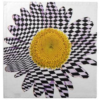 Chess board daisy napkin