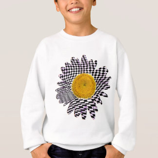 Chess board daisy sweatshirt