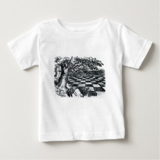 Chess Board in Wonderland Baby T-Shirt