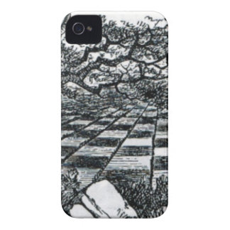 Chess Board in Wonderland iPhone 4 Cover