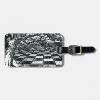 Chess Board in Wonderland Luggage Tag