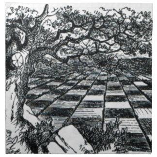 Chess Board in Wonderland Napkin