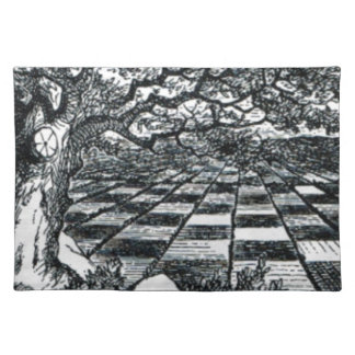 Chess Board in Wonderland Placemat