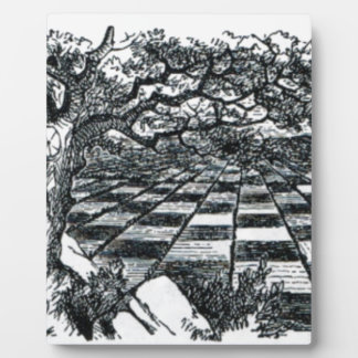 Chess Board in Wonderland Plaque