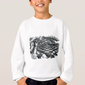 Chess Board in Wonderland Sweatshirt