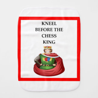 chess burp cloth