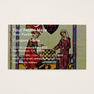 Chess,  By Meister Der Manessischen Liederhandsch Business Card