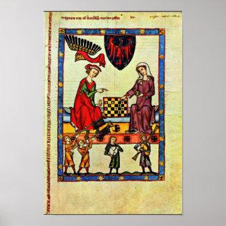 Chess,  By Meister Der Manessischen Liederhandsch Poster
