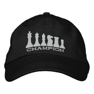 Chess Champion Embroidered Cap