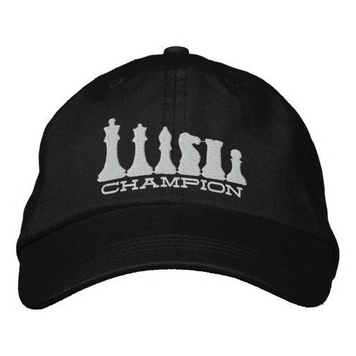 Chess Champion Embroidered Baseball Cap
