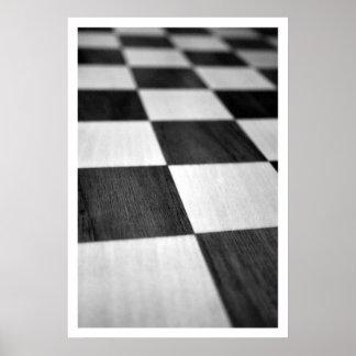 Chess / Checker Board Poster