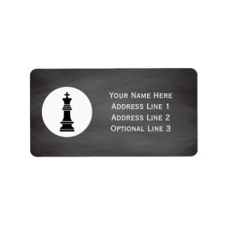 Chess Club Players | Personalized Chalkboard Label