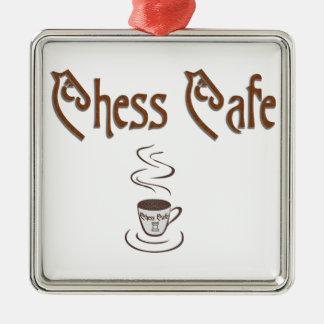 Chess Coffee Metal Ornament