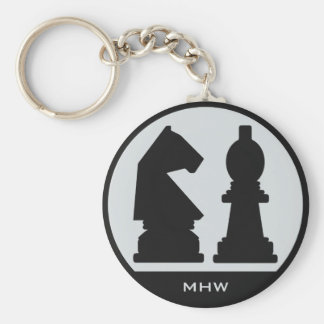 CHESS custom monogram key chains