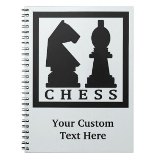 CHESS custom text & color notebook