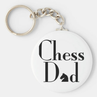 Chess Dad Basic Round Button Key Ring