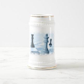 Chess Design  Beer Stein