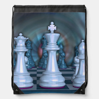 Chess Fan Drawstring Backpack