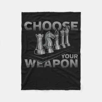 Chess Game Choose Your Weapon Fleece Blanket