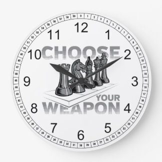 Chess Game Choose Your Weapon Wallclock