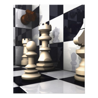 Chess Game Style 11.5 Cm X 14 Cm Flyer