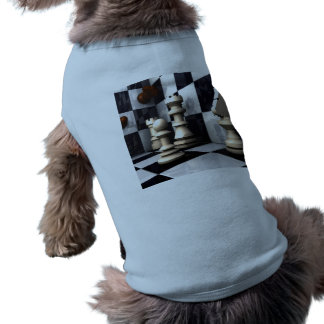 Chess Game Style Sleeveless Dog Shirt