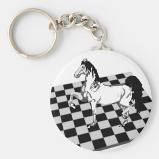 chess horse key ring