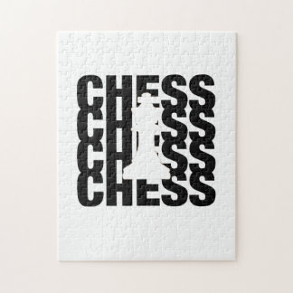 Chess king jigsaw puzzle