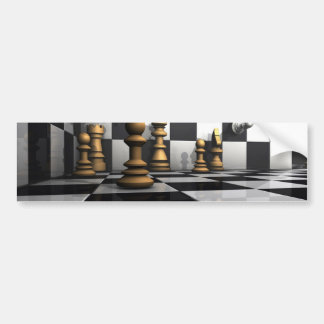 Chess King Play Bumper Sticker