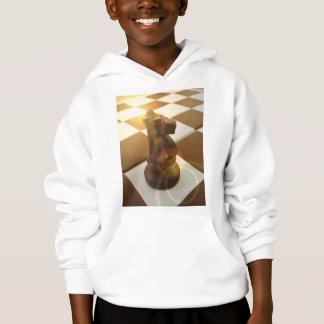 Chess Knight Hooded Kid's Sweatshirt