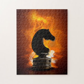 Chess Knight in Flames Jigsaw Puzzle
