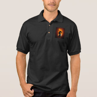Chess Knight in Flames Polo Shirt