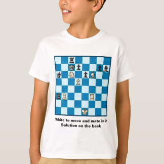Chess Mate In 2 Puzzle #1 T-Shirt