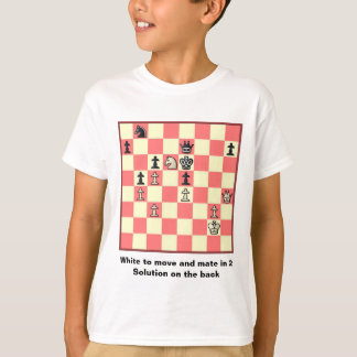 Chess Mate In 2 Puzzle #4 T-Shirt
