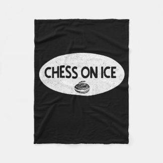Chess on Ice Curling Custom Fleece Blanket